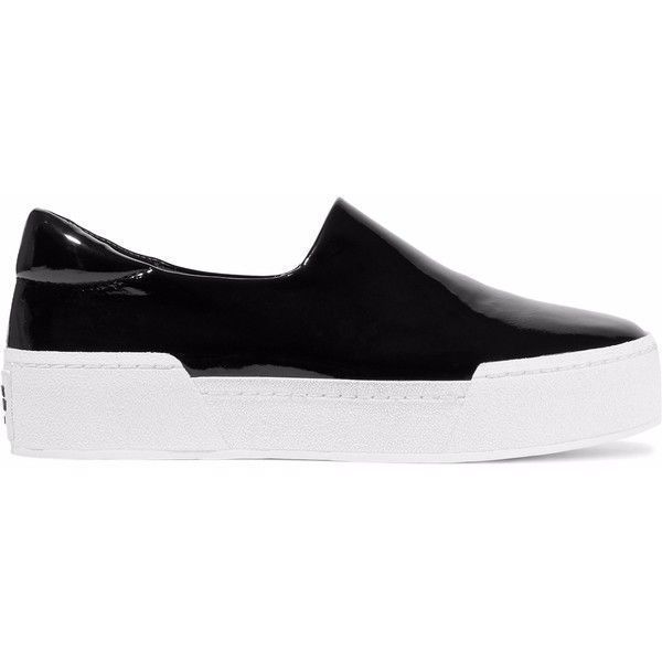 deeb26cf6445 OPENING CEREMONY Patent-leather platform slip-on sneakers (170 AUD) ❤ liked