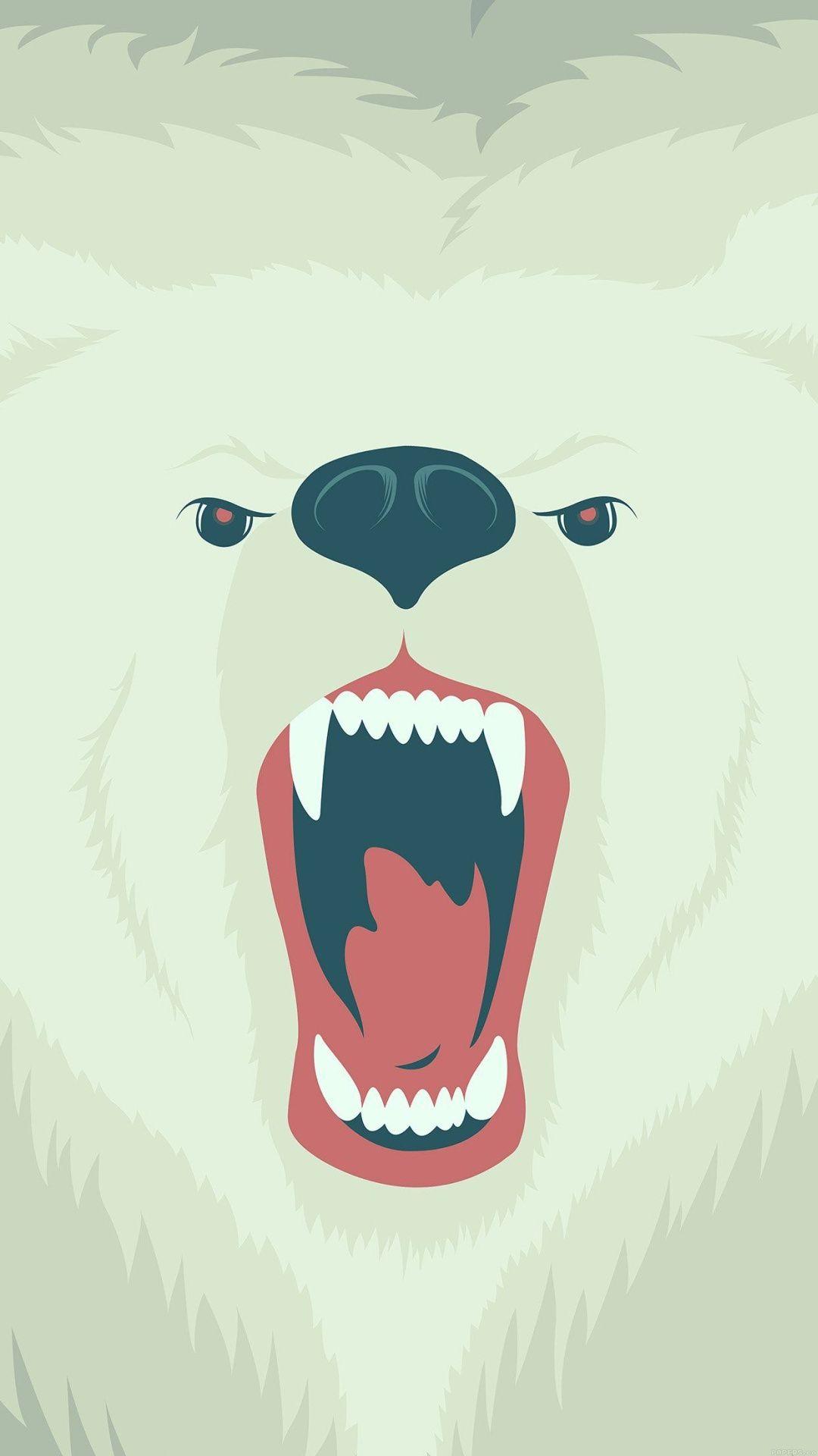 Animal iphone wallpaper tumblr - Fierce Polar Bear Winter Iphone 6 Plus Hd Wallpaper