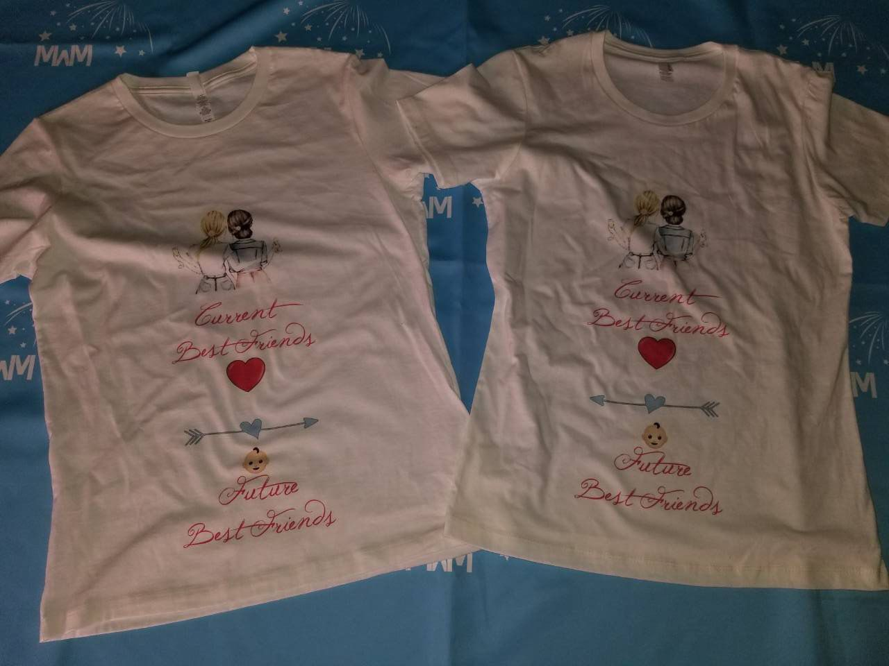 c6450eba3 Current Best friends, Future Best Friends, Maternity Matching Ladies Shirts,  Married With Mickey, Sign Shop in Brooklyn 13thAve