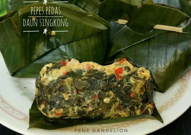 Resep Pepes Pedas Daun Singkong Dandelion Oleh Yene Dandelion Resep Resep Makanan Masakan