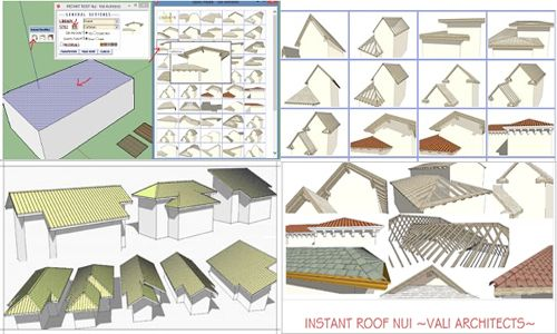 Instant Roof Plugin For Sketchup Roof Design Sketchup Roof Design Plugins Design