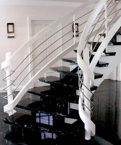 Natursteintreppe Treppe Granit Marmor auf Beton | Granittreppen ...