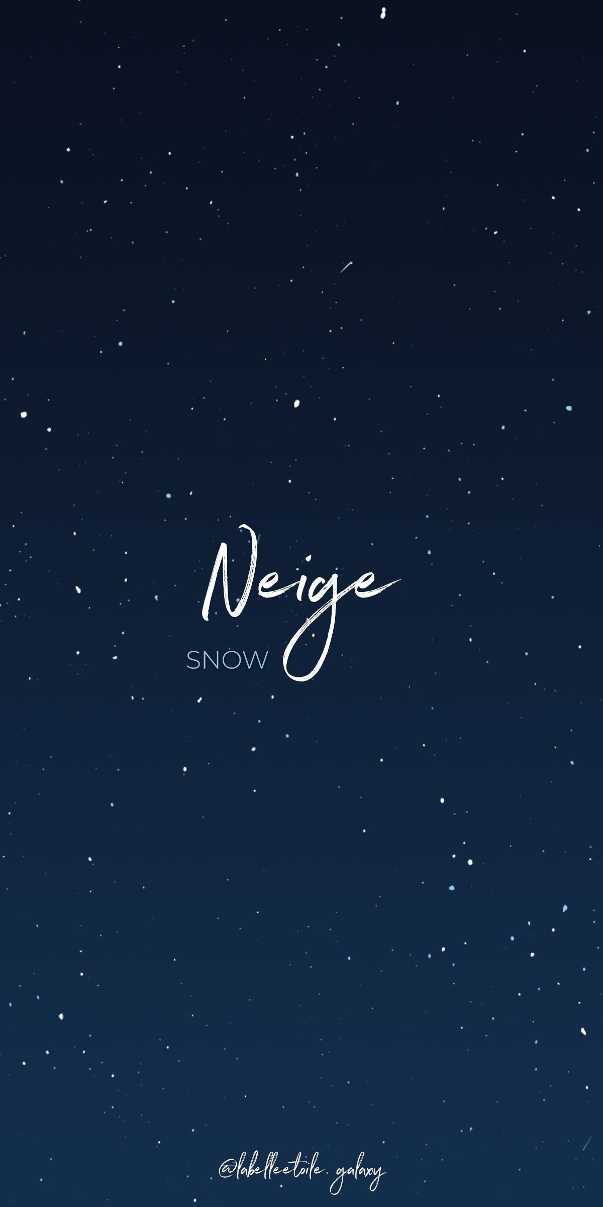 Neige Snow Bonjour You Are In The Right Pace