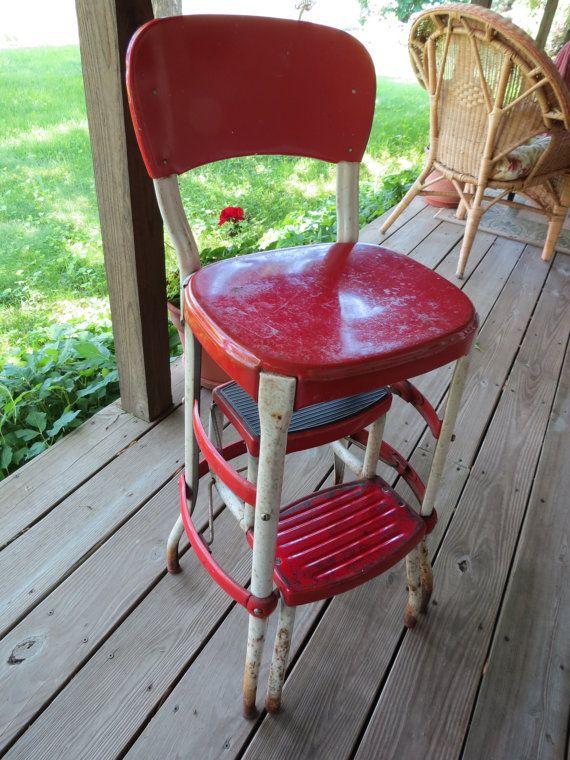 Vintage Cosco Step Stool Chair Stool Chair Chair Stool