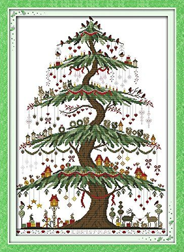 good value cross stitch kits beginners kids advanced christmas tree