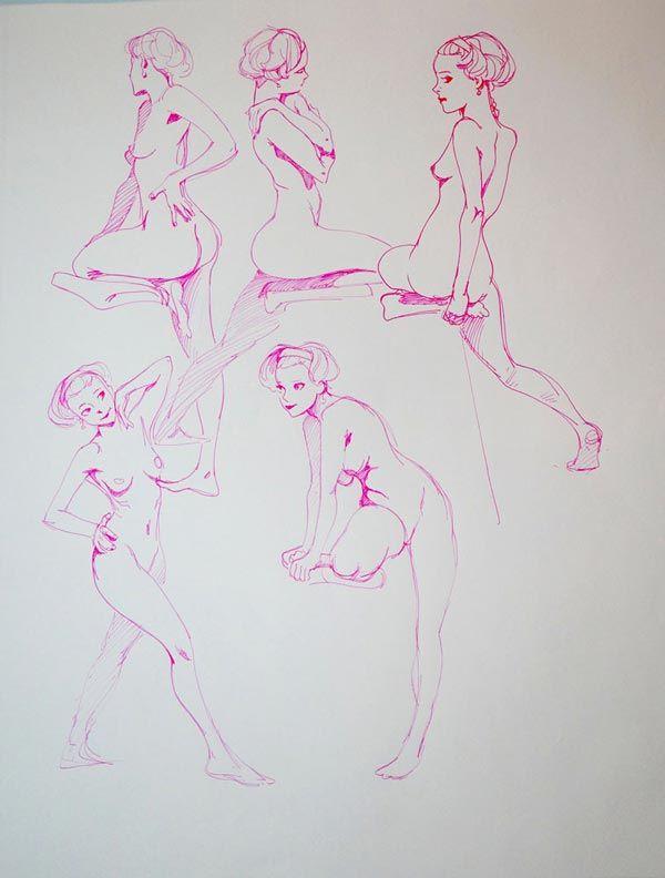Superbes planches de dessins de lu0027artiste Kirk Shinmoto aka - pose papier a peindre
