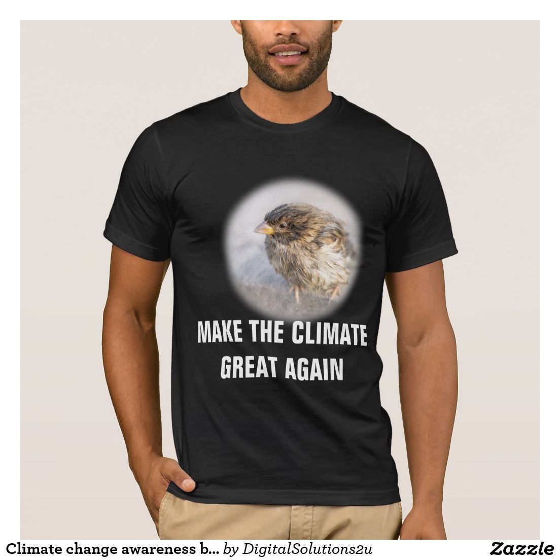 Black t shirts with quotes - Climate Change Awareness Black T Shirt