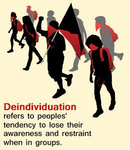 what is an example of deindividuation