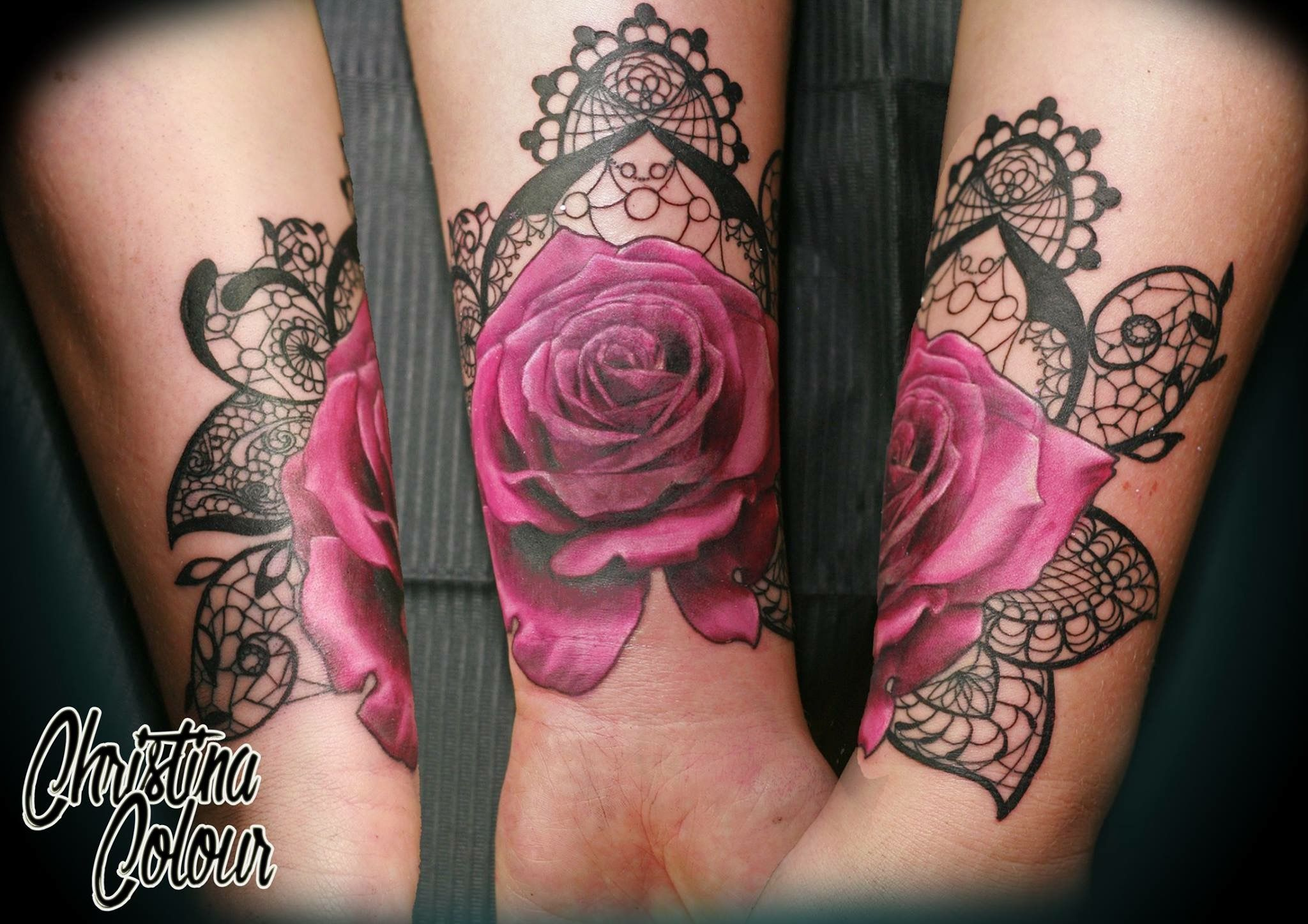 Opposite Side Top Of Wrist Substitute Heart Wrist Tattoo Cover Up Lace Tattoo Rose Tattoo Design