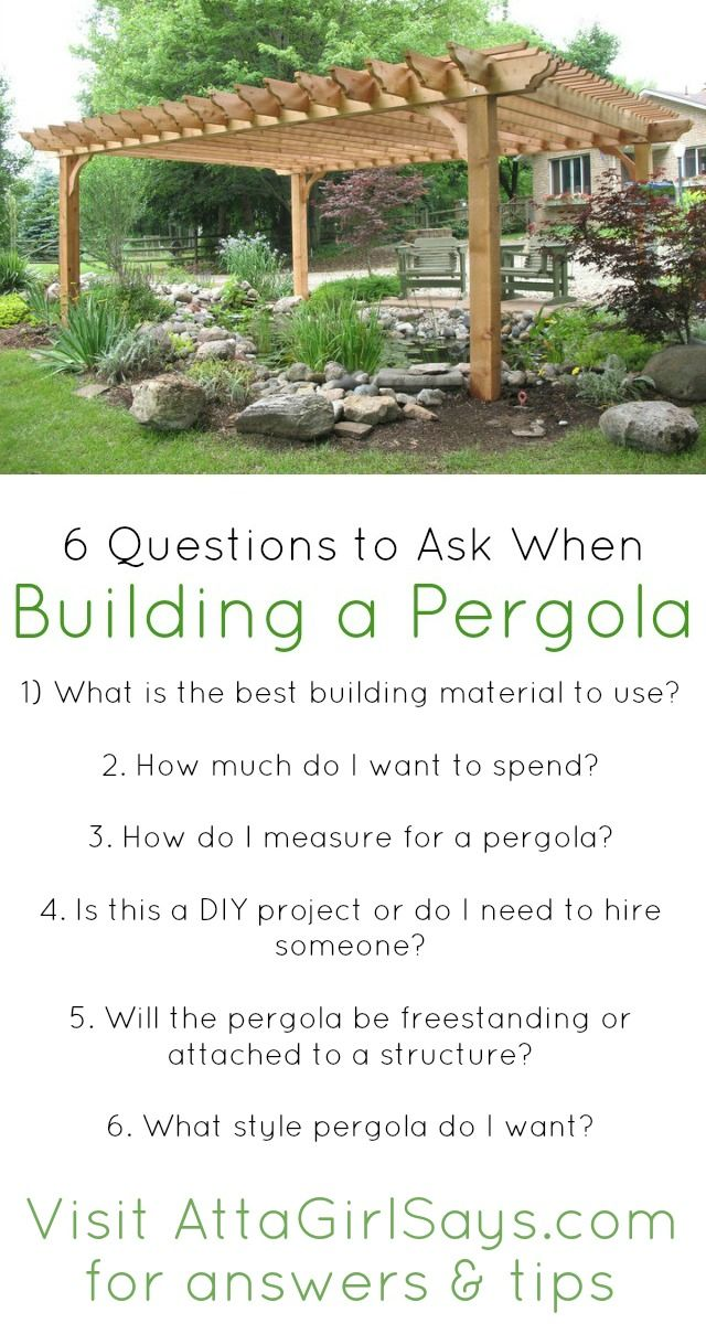 Do It Yourself Home Design: Building A Pergola? Be Sure To Ask These 6 Questions First