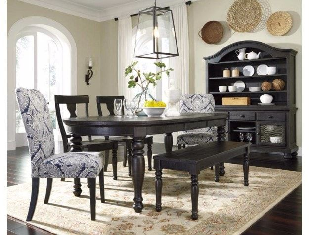 Dining Room Set Sharlow Charcoal 6 Piece By Ashley Bellagio Furniture Store Houston  Texas Www.