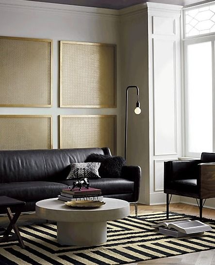Alfred Black Leather Sofa Reviews Cb2 In 2020 Black Leather Sofas Trendy Living Rooms Living Room Modern
