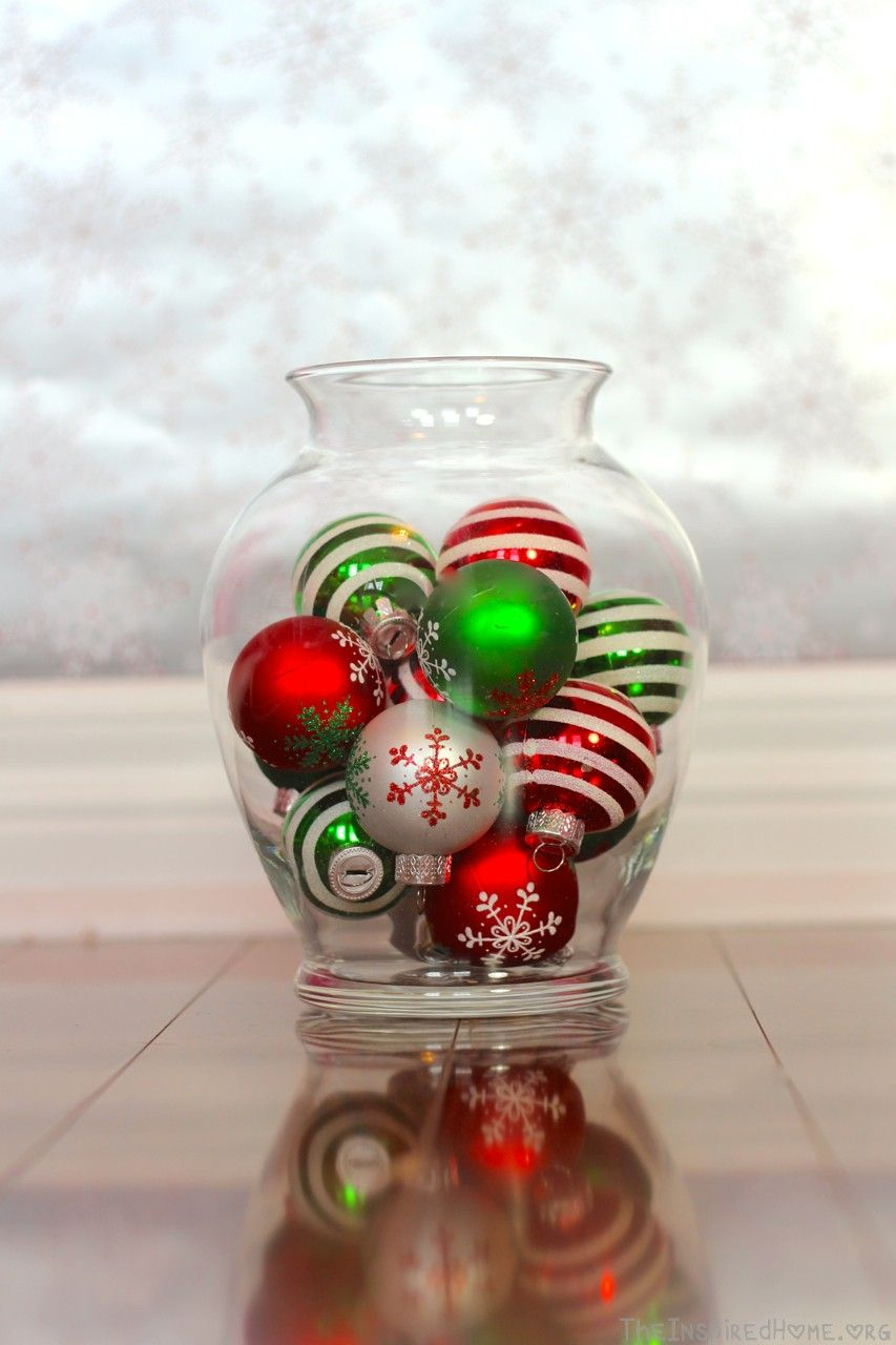 6 Holiday Vase Fillers The Inspired Home Christmas Vases Holiday Vase Fillers Christmas Mantel Decorations
