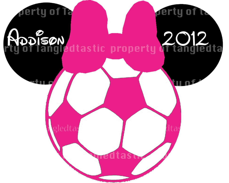 minnie soccer ball disney printable diy piy appliqué iron on