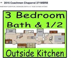 Love This 3 Bedroom 5th Wheel Setup Rv Living 5th Wheel