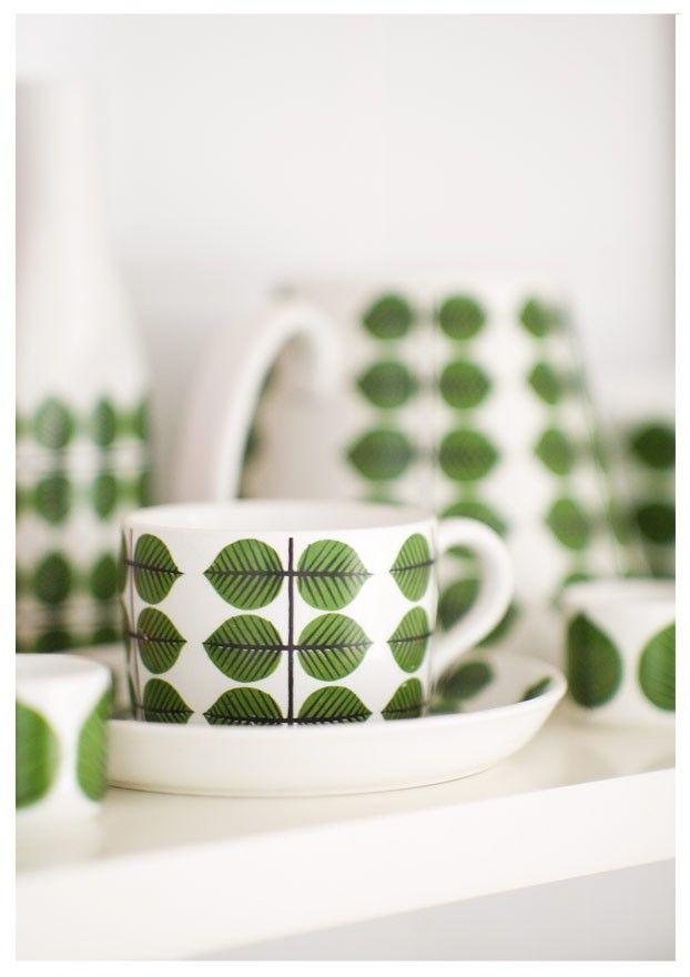 stig lindberg inspiration porcelaine pinterest tasse vert et table scandinave. Black Bedroom Furniture Sets. Home Design Ideas
