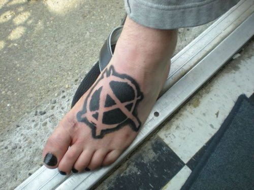 Anarchy love the placement maybe for my other foot tatoo anarchy love the placement maybe for my other foot voltagebd Image collections