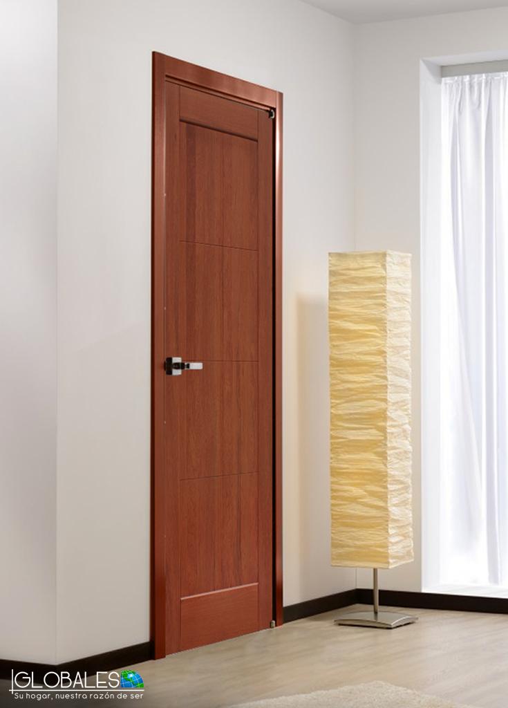 La puerta montevideo es s lida elaborada con maderas for Puertas madera interiores catalogo