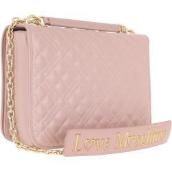 Love Moschino Borsa Quilted Nappa Shoulder Bag Chain Rosa in rosa Umhängetasche für Damen Moschinomo