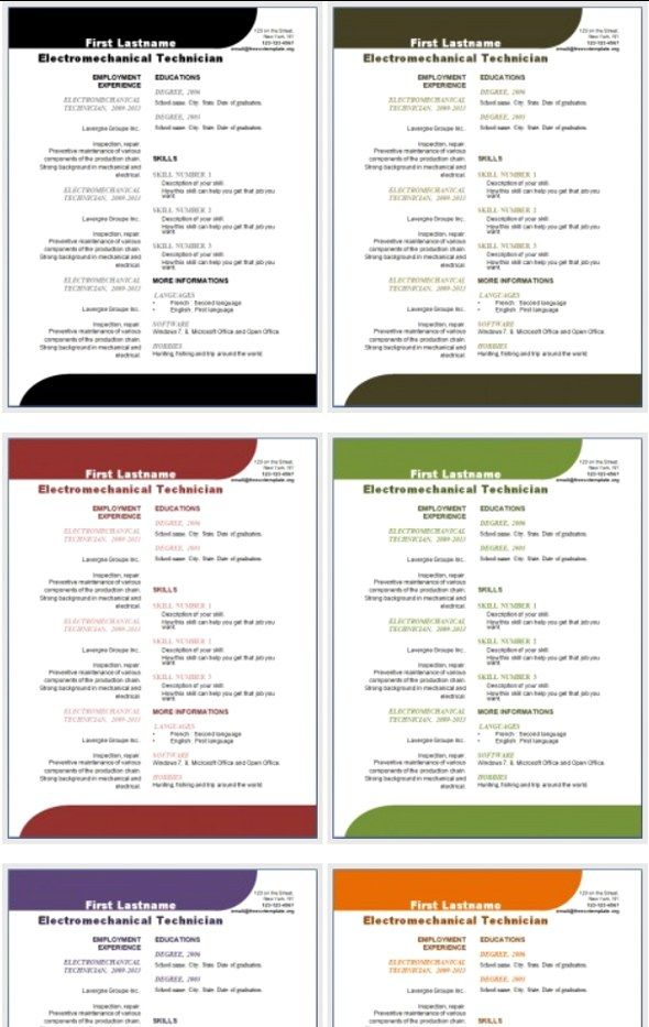 50 Free Microsoft Word Resume Templates for Download Microsoft - free job resume templates