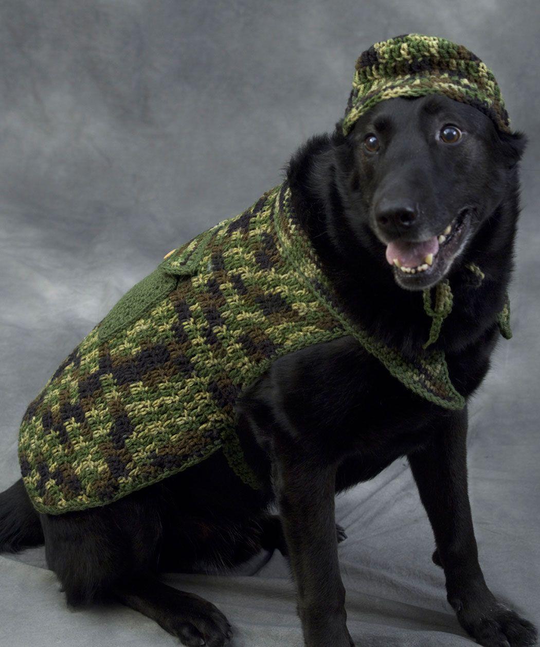 Hunter dog crochet pattern httpredheartfree patterns free hunter dog outfit crochet pattern haha thinking nikki would not like this bankloansurffo Gallery