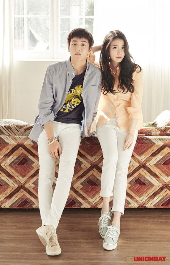 IU with Lee Hyun Woo - Unionbay 2015 Summer Catalogue