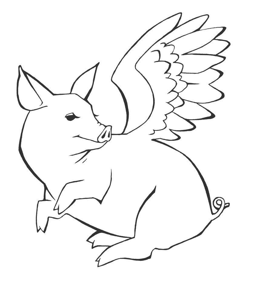 flying pig tattoo by sage666 on deviantart refs pinterest