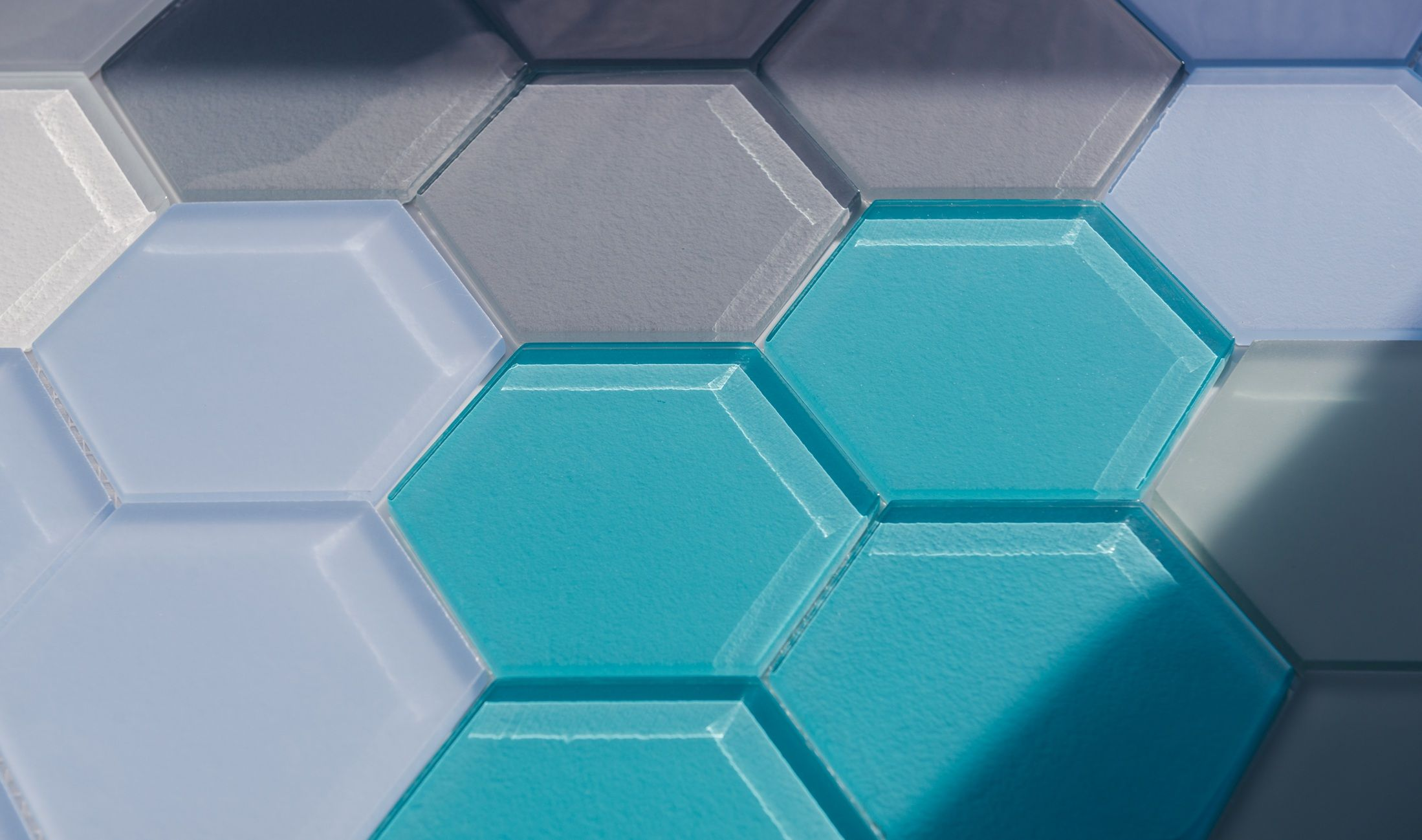 Our hexagon series is so beautiful Glass tile, Hexagon
