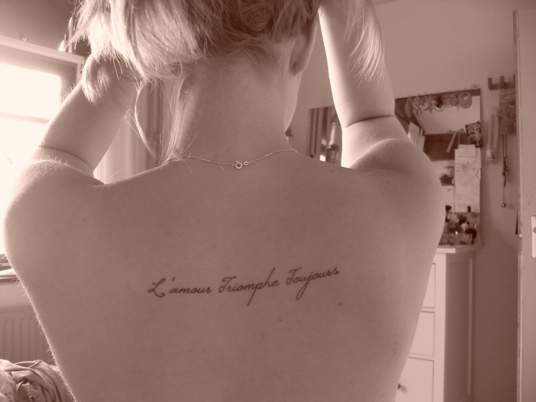 tatouage goodbye my love
