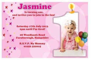 First Birthday Invitation Pink In 2019 Online Birthday