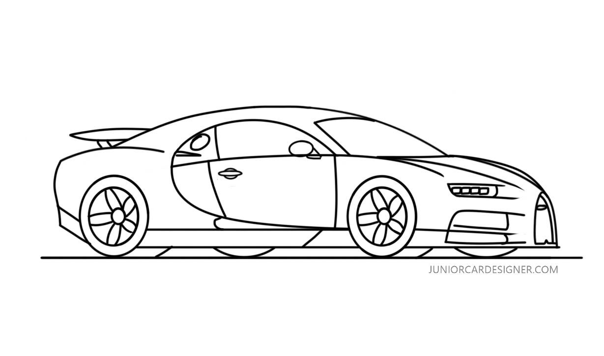 How To Draw A Bugatti Chiron With Images Bugatti Chiron Car