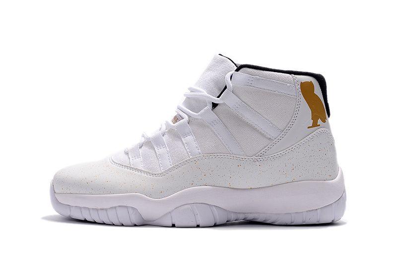 air jordans 11 (XI) men shoes-white/owl