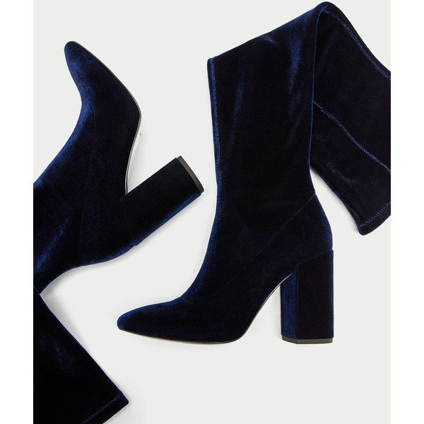 2caa276db08 VELVET OVER THE KNEE HIGH HEEL BOOTS - View all-SHOES-WOMAN