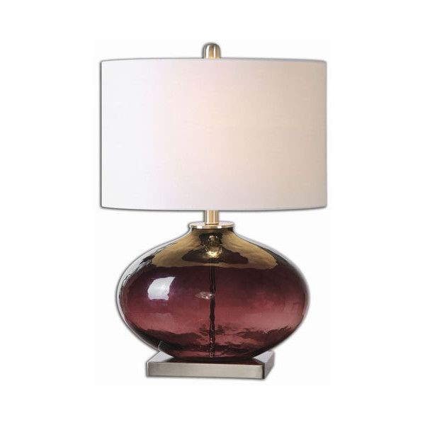 Uttermost Tyrian Purple One Light Table Lamp (350 AUD) ❤ Liked On Polyvore