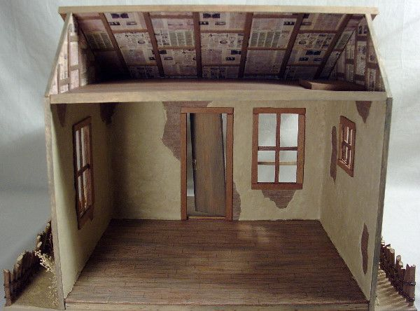 Deb S Minis Ghost Town Stage Stop Doll House Crafts