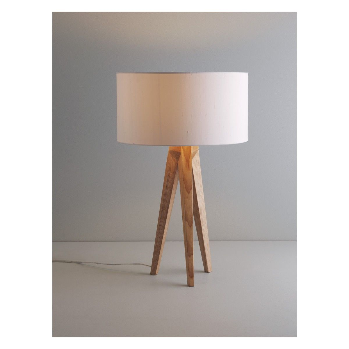 Tripod Ash Wooden Tripod Table Lamp Base Buy Now At Habitat Uk