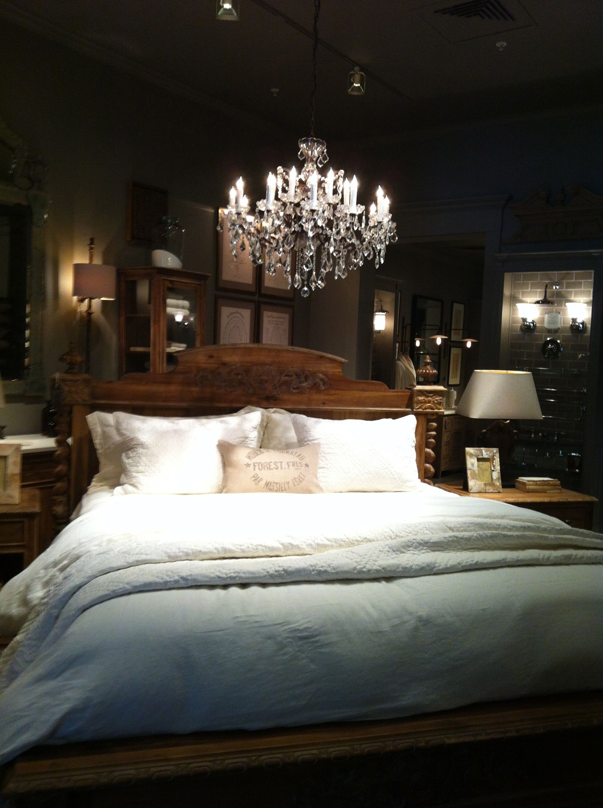 Restoration Hardware Chandelier Over Bed Hubby Won T Get Rid Of His Fan Though