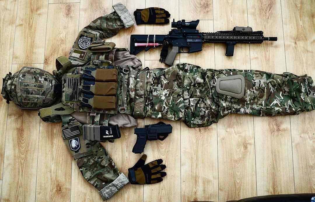 Maddog Tactique Paintball Combat Vest Woodland Camo MILSIM