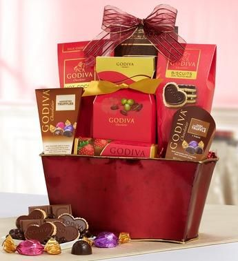 Godiva Be My Valentine Chocolates Basket Desserts Pinterest