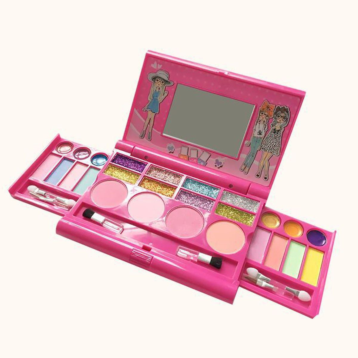 Princess Makeup Set Toy For Kids Cosmetic Girls Kit Eyeshadow Lip Gloss Blushes Makeup Kit For Kids Kids Makeup Princess Makeup