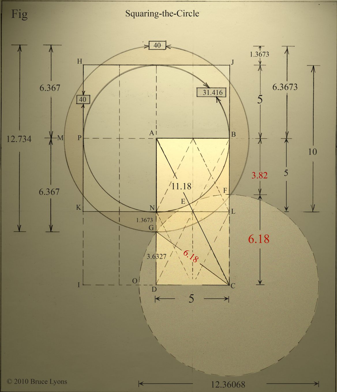 Unknown Squared Circle: More than meets the Eye (P7) | Squaring the circle,  Geometry design, Geometric patterns drawing