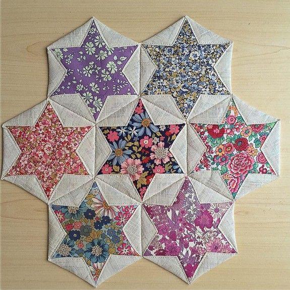 Folded Hexagon Stars   Quilt Blocks and Patterns   Pinterest ... : folded quilt blocks - Adamdwight.com