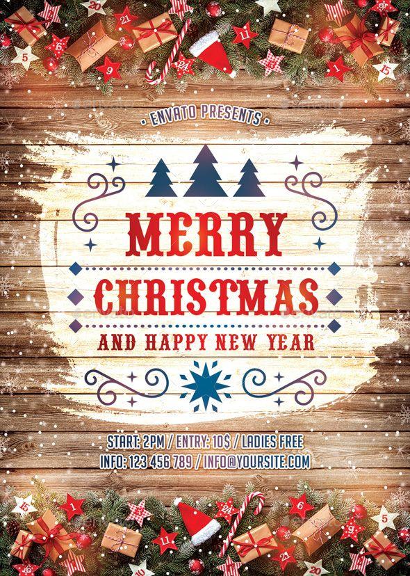 Christmas Celebration Free Psd Flyer Template Christmas Flyer
