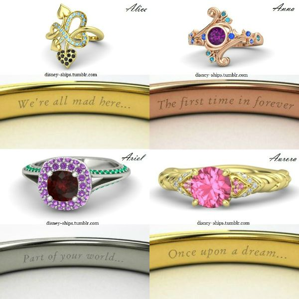 Disney inspired ring designs