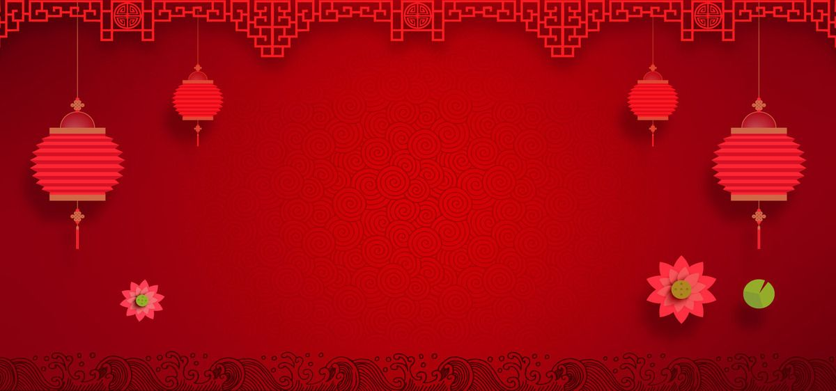 Chinese New Year Festive Red Chinese Style Poster Banner Background Chinese New Year Poster Chinese New Year Background Chinese New Year Decorations New year banner background hd