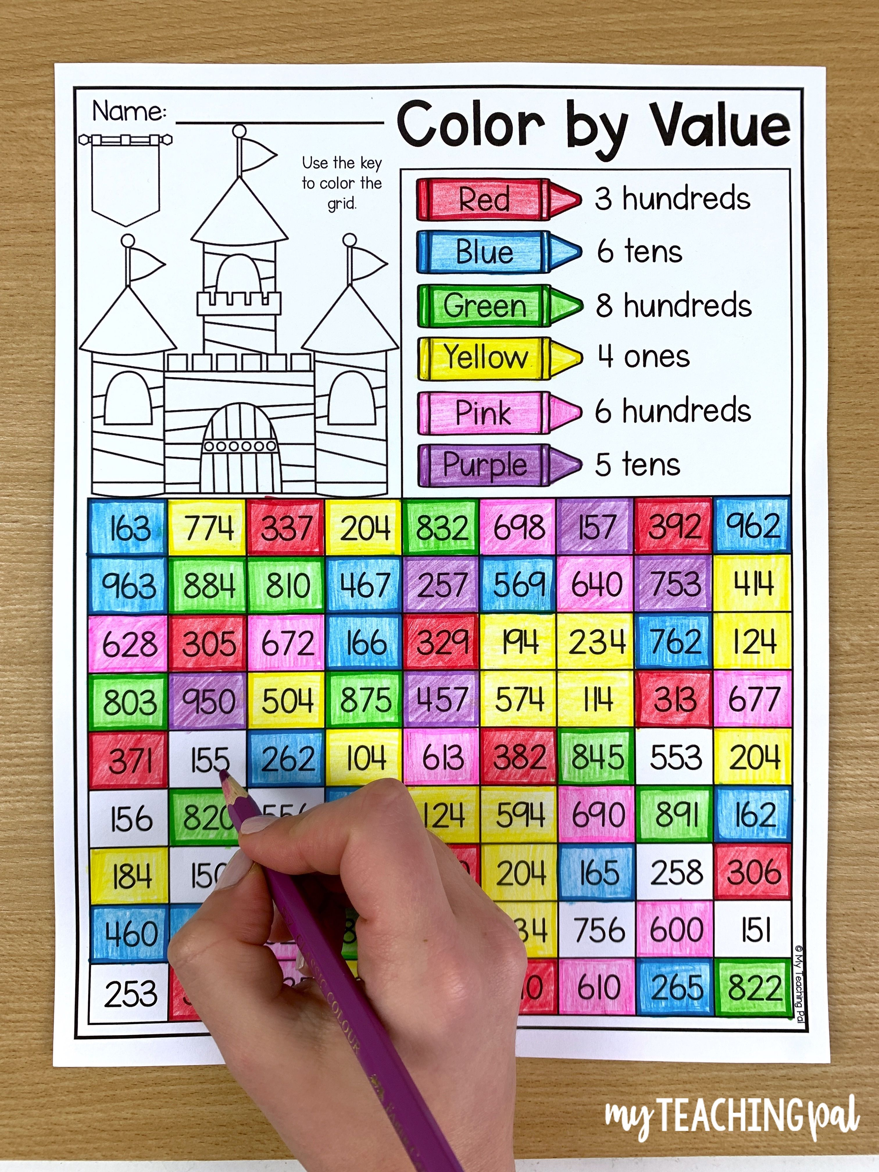 Place Value Worksheet 3 Digits Place Value Worksheets Second Grade Math Tens And Ones Worksheets