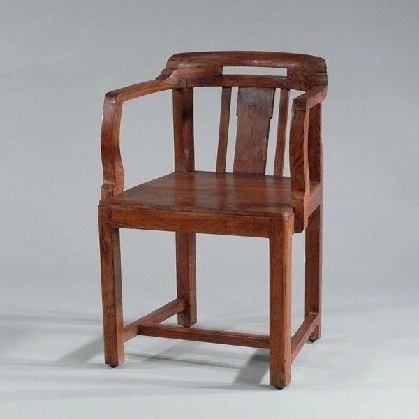 Alter Teak Armlehn Stuhl, Echtes Retro Design. Kolonial Vintage Stuhl Aus  Teak, Restauriertes Unikat Aus Indien Günstig Bei Fabrikschick.de
