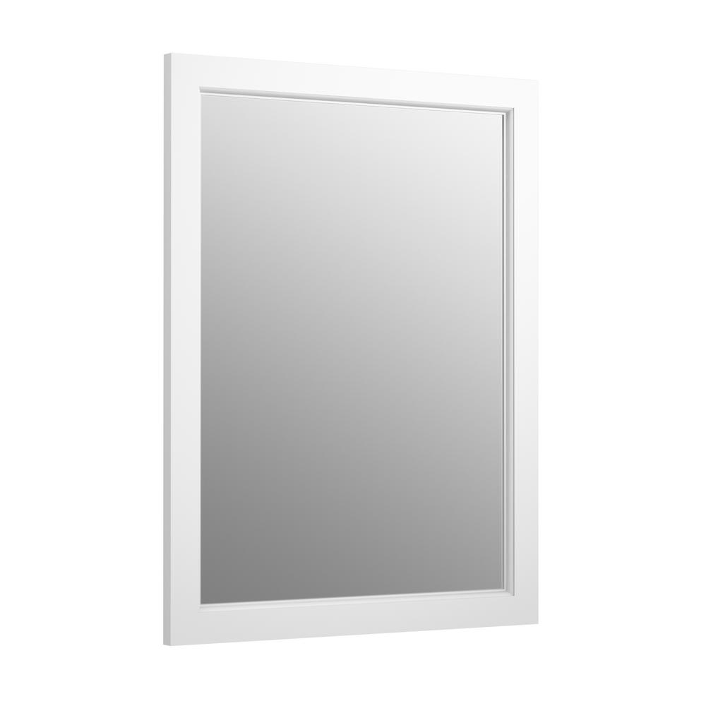 Kohler 20 In W X 26 In H Recessed Or Surface Mount Anodized Aluminum Medicine Cabinet With Frame In Linen White Recessed Medicine Cabinet Mirror Recessed Medicine Cabinet Surface Mount Medicine Cabinet