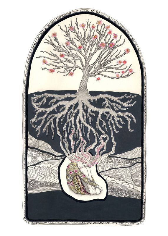 Http Img0 Etsystatic Com 015 1 5176191 Il 340x270 440560108 Mi1f Jpg Roots Drawing Mother Art Roots Illustration