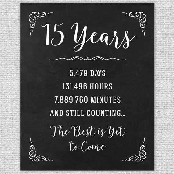 15 Year Wedding Anniversary Gifts: 15th Year Wedding Anniversary